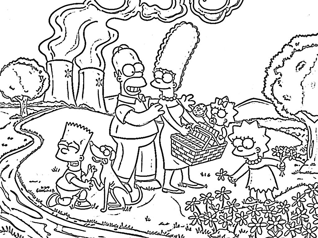 The Simpsons Coloring Pages | wallpaperxy.com | colorear | Pinterest ...
