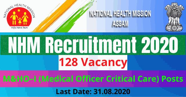 NHM Recruitment 2020 Apply Online For 128 M&HOI (Medical