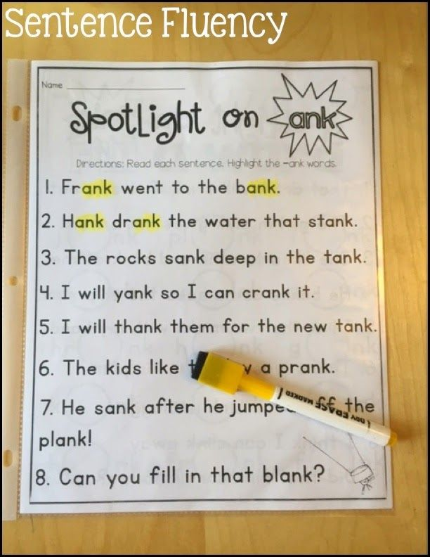 RTI: ink, ank, unk, onk Phonics Activities | Literacy Lessons ...