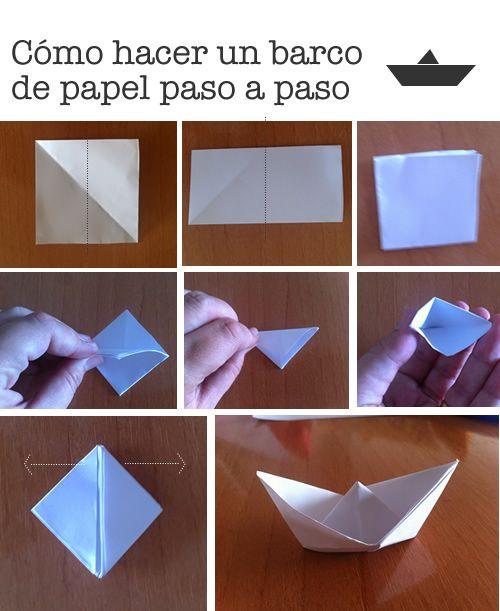 Cómo Hacer Un Barco De Papel Paso A Paso Manualidades Manualidades Tutorial De Origami Juegos De Papel Para Niños