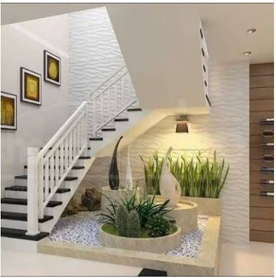 Modern Home Indoor Plants Decor Ideas Interior Garden Stair