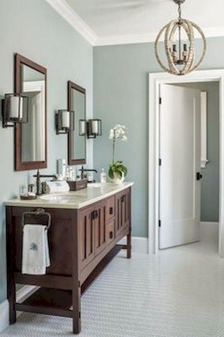 55+ Stunning Modern Farmhouse Bathroom Design Ideas and ...