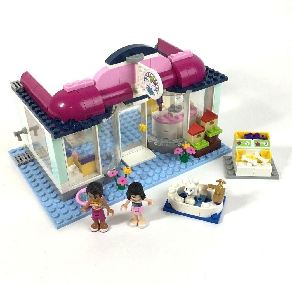 Lego Friends 41007 Heartlake Pet Salon Set Near Complete No