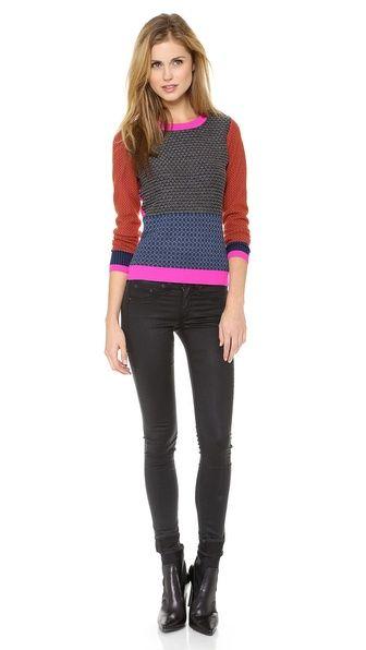 Diane von Furstenberg Fairlee Texture Sweater $225.00