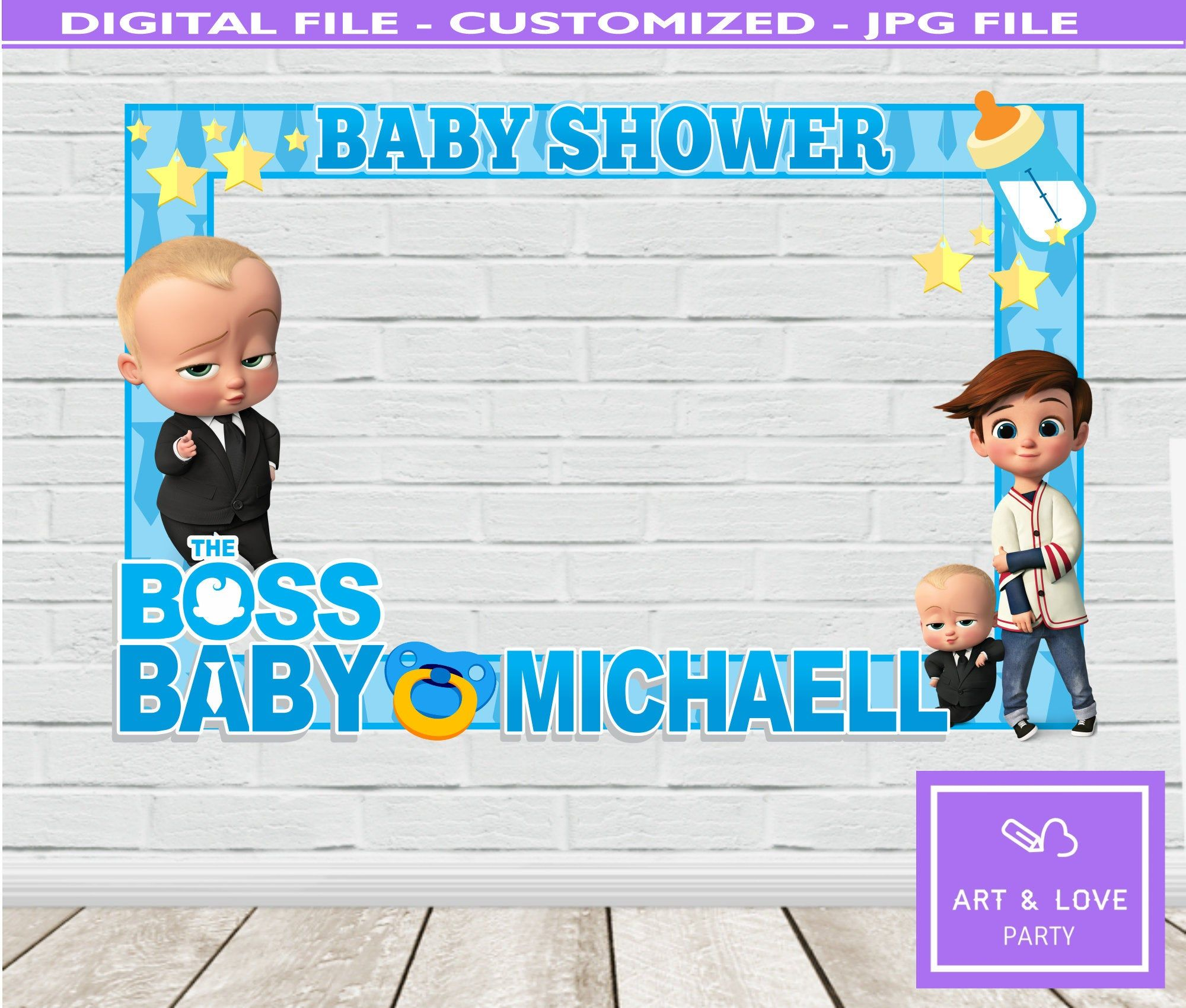 Boss Baby Photo Booth Frame