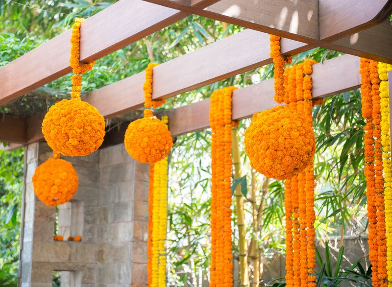 Genda Flower Balls Traditional Wedding Decor Wedding