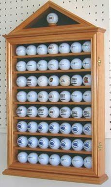 Incroyable 57 Golf Ball Display Case Cabinet Novelty Gift OAK Finish ** You Can Find  Out More Details At The Link Of The Image.