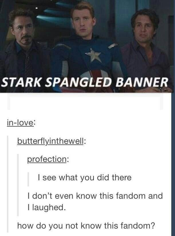 HOW do you not know about Marvel?<<I lagged about the post