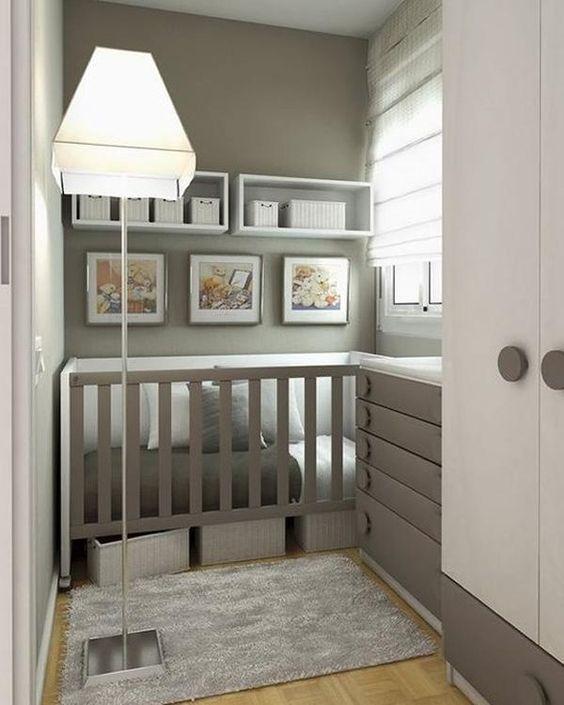 Como adaptar una habitaci n con poco espacio a las - Habitaciones bebe pequenas ...