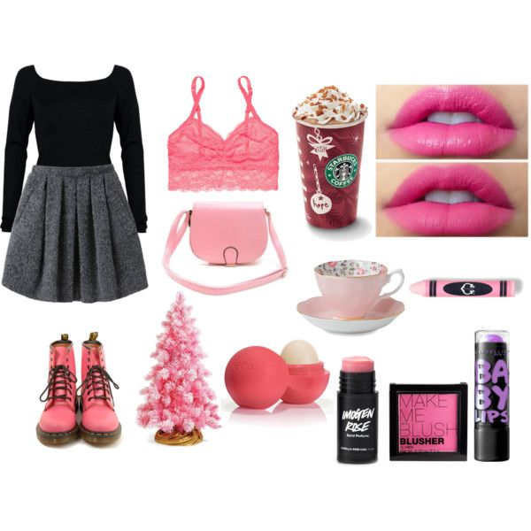 """Pink Xmas"" by joanamonteiiro on Polyvore"