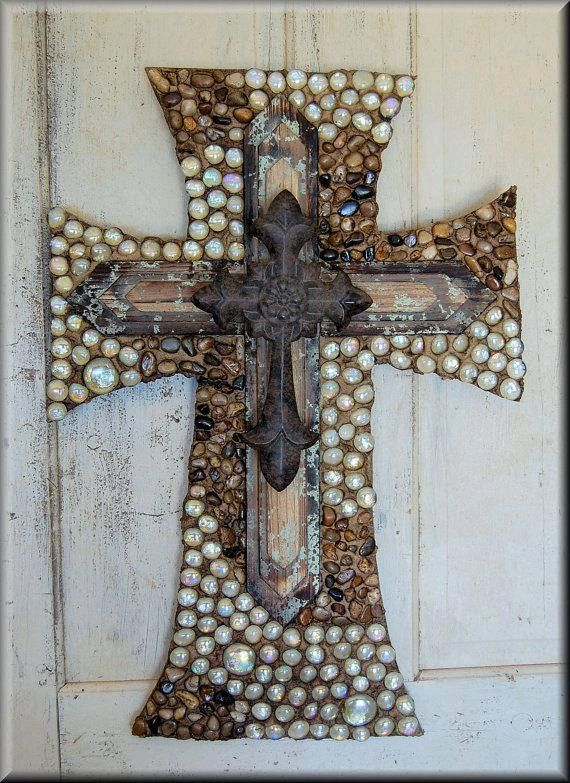 Decorative Cross By Stonefrenzy On Etsy