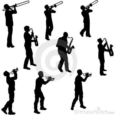 Jazz Musician Silhouettes | Jazz Musician Silhouettes http://www.dreamstime.com/royalty-free-stock ...