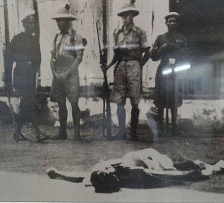 Assassination of Mohandas Karamchand Gandhi -  (often called Mahatma Gandhi) was assassinated on 30 January 1948, shot at point-blank range by Nathuram Godse. Prior to his death, there had been five unsuccessful attempts to kill Gandhi, the first occurring in 1934. Gandhi was outside on the steps of a building where a prayer meeting was going to take place. He was surrounded by a part of his family and some followers when three gunshots killed him.