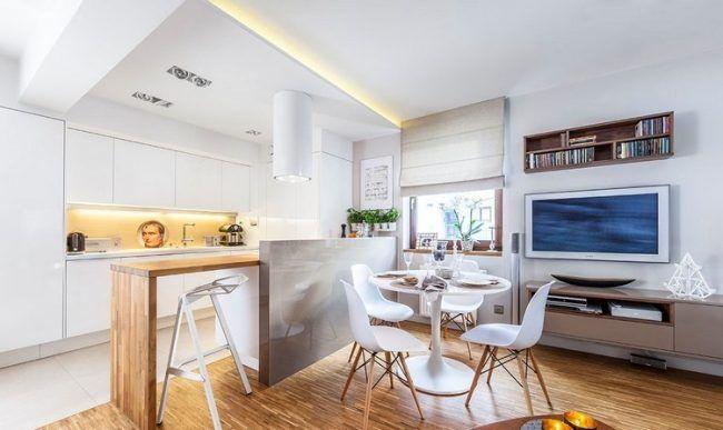 fernseher-wand-montieren-wohnzimmer-essbereich-wohnkueche | خونه, Mobel ideea