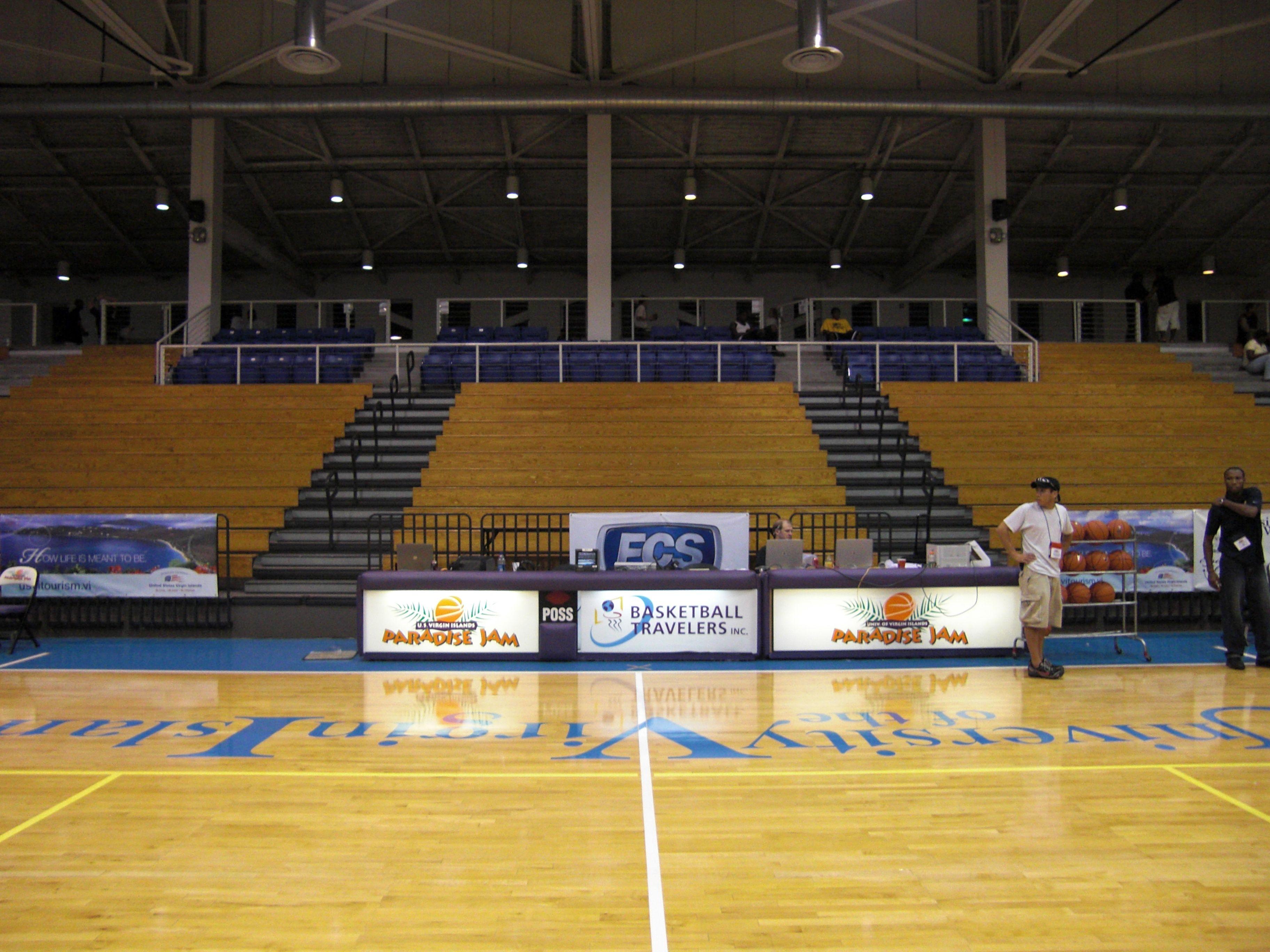 Sports And Fitness Center University Of The Virgin Islands St Thomas Vi Home Of The Paradise Jam Basketbal Basketball Tournament Basketball Fitness Center
