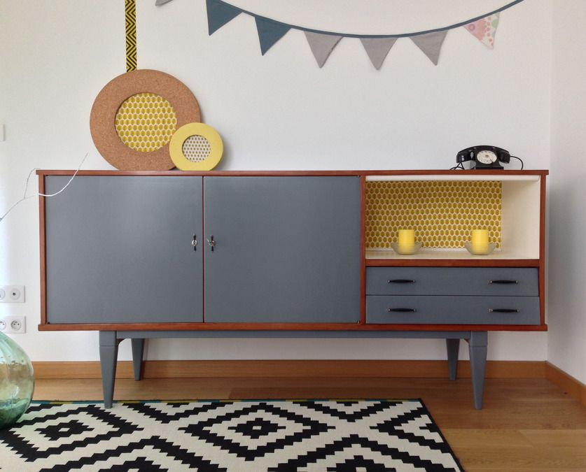 Best 25 buffet gris ideas on pinterest buffet salle manger murs gris fo - Buffet table integree ...
