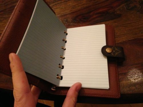 Note Paper Refill Insert fits Louis Vuitton 6 Ring PM AGENDA DIARY COVER #GenericNotLouisVuitton