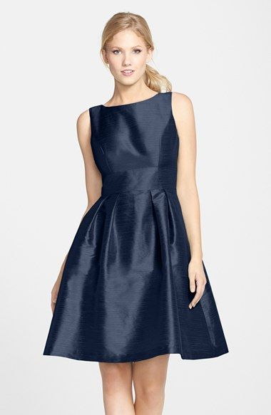 a0bf4048a44 Alfred Sung Dupioni Fit   Flare Dress