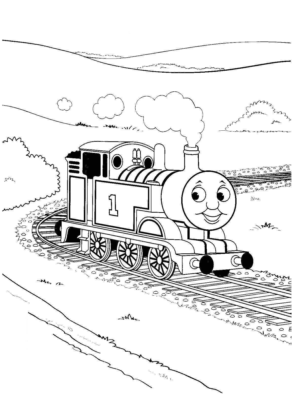 train color pages free printable # 7