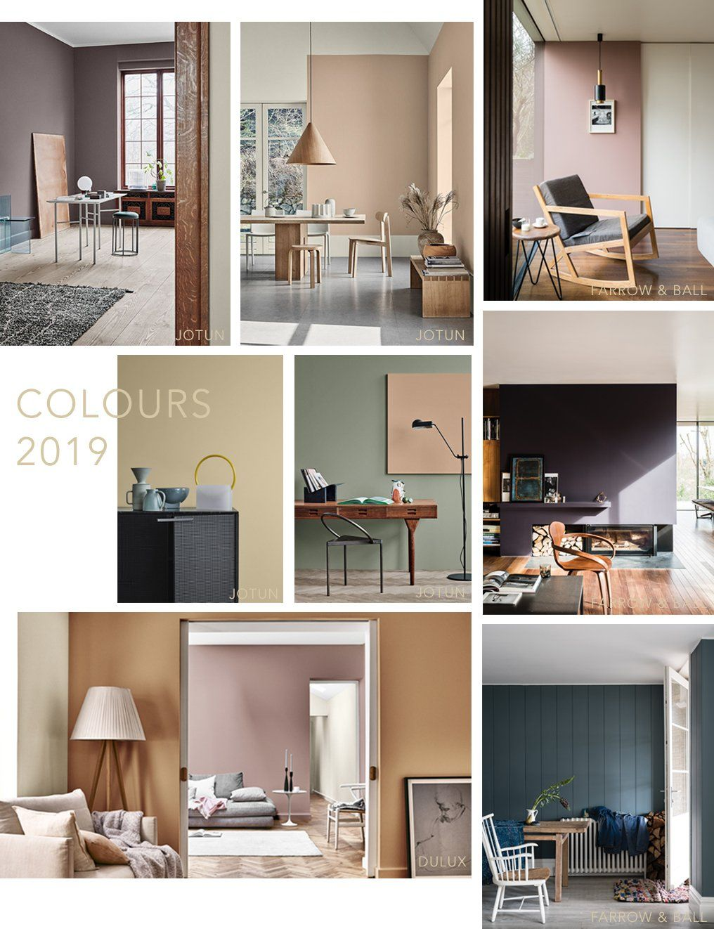 Interior Colour Trends 2019 #colourtrends #paintcolours #farrowandball  #Jotun #Dulux #modernliving