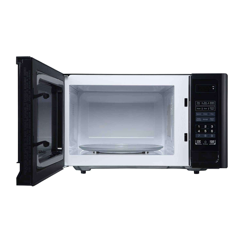 Hamilton Beach 0 9 Cu Ft Microwave Oven Black Bargain Microwave Oven Microwave Black Kitchens