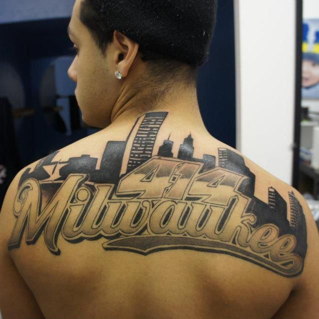 Nice tattoo of Milwaukee skyline... | Our Wisconsin ...