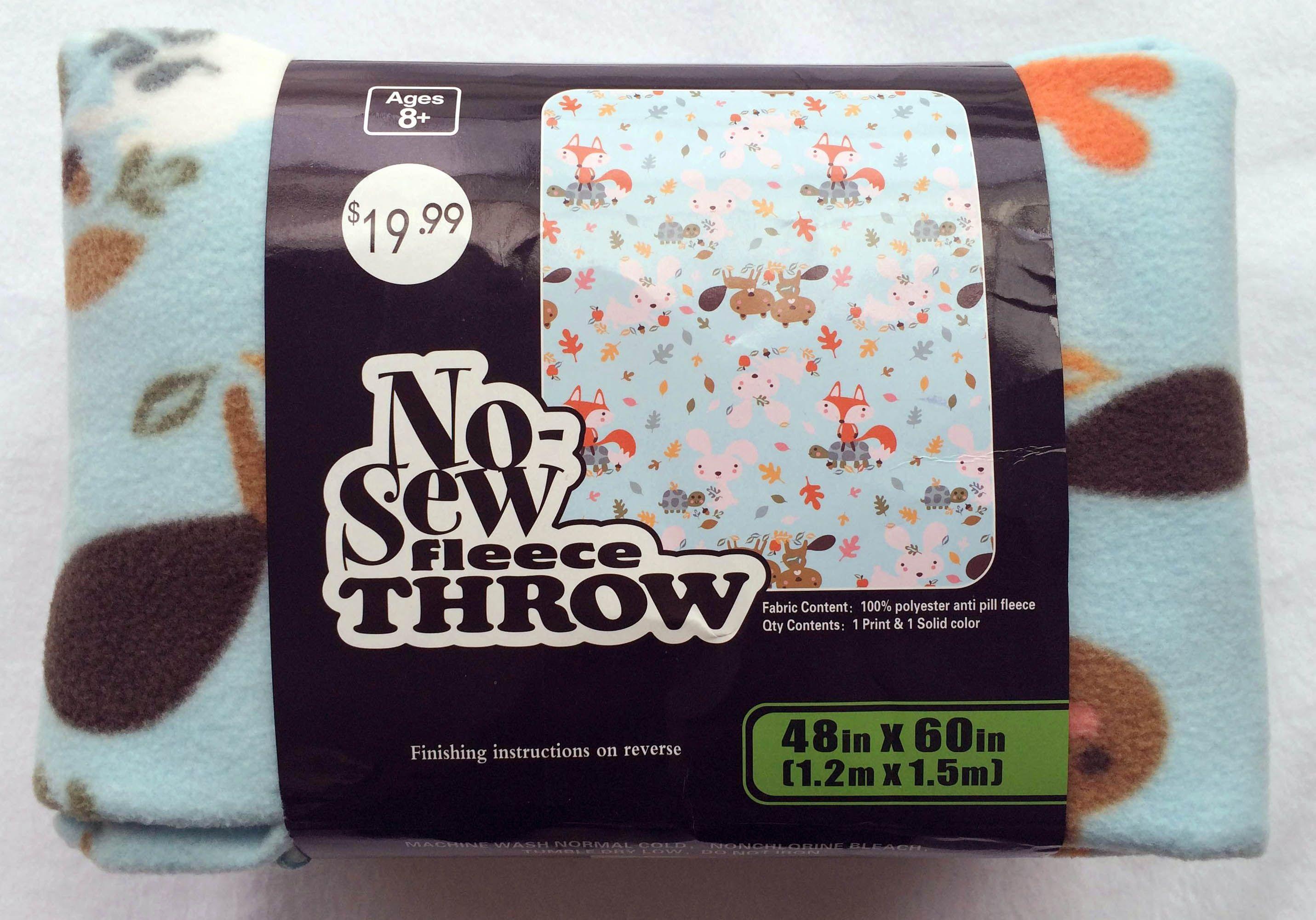 Uu no sew throw woodland babies novice sewing pinterest