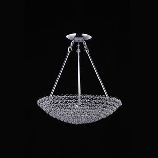 Joshua Marshal 7018-001 8-Light Chrome Pendant with Clear European Crystals Sale: $328.49 25 inches high x 20 inches in diameter