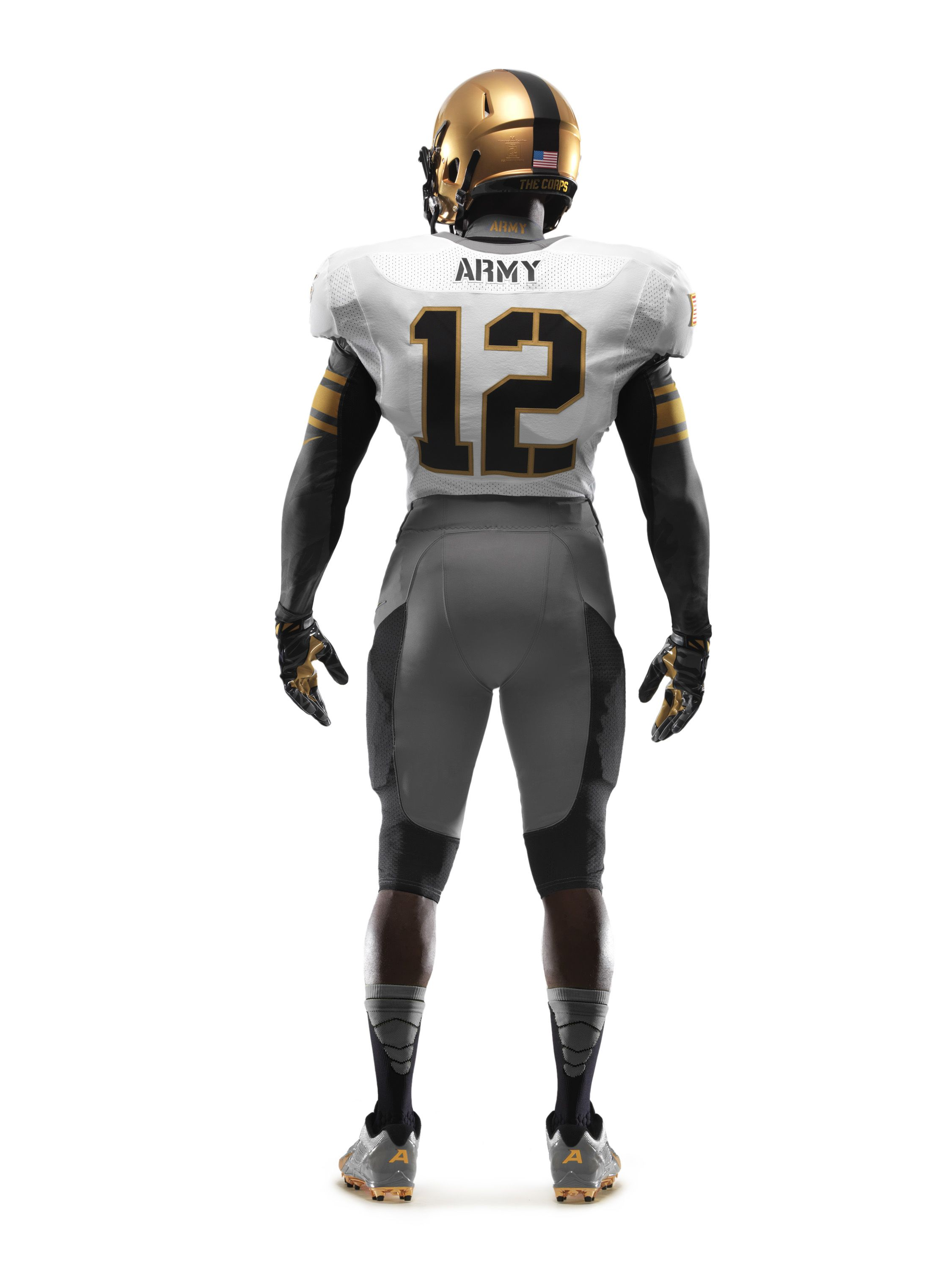The back of Army's uniform for the ArmyNavy Game