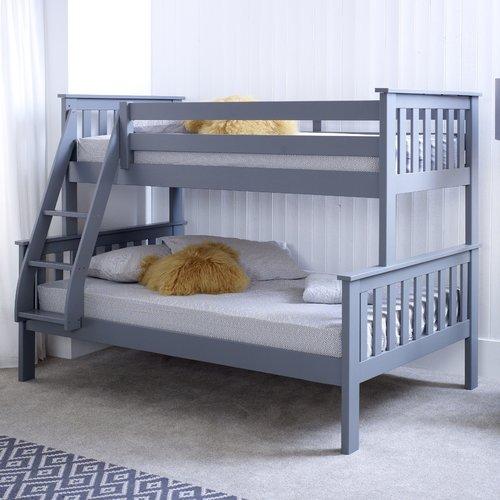Best Harriet Bee Aaron Triple Bunk Bed Triple Sleeper Bunk 640 x 480
