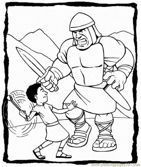 David Goliath Printables Free Printable Coloring Page David