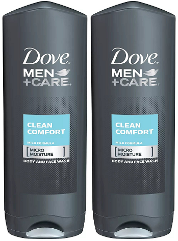 Dove Men Care Elements Clean Comfort Body And Face Wash 400ml Pack Of 2 In 2020 Dove Men Care Face Wash Dove Men