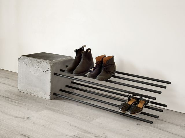 Cantilever Shoe Rack by Stance Studio - Shoe Rack, Brutalist, Cantilver, Outdoor...#brutalist #cantilever #cantilver #outdoor #rack #shoe #stance #studio