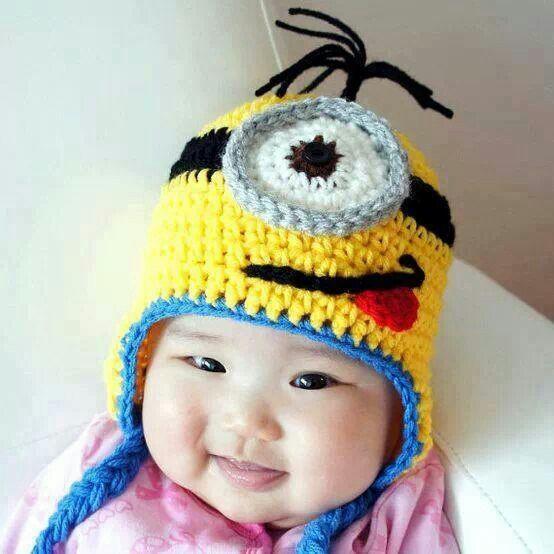 Gorro de los miñons | gorritos | Pinterest | Aunt and Crochet