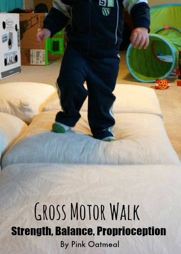 Gross Motor Walk.  A fun gross motor game for your toddler.  I love working large motor skills!