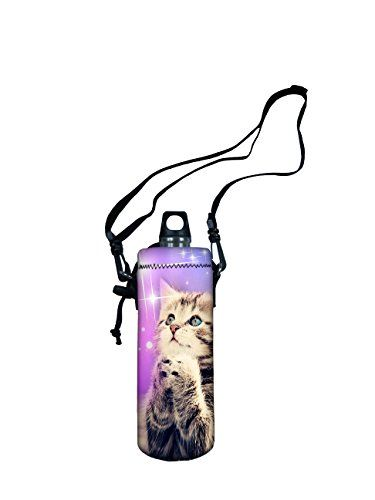 dae927b3ce iColor Water Bottle Carrier Water Bottle Holder 750ml 750 Milliliter  wAdjustable Shoulder strapSling insulated Outdoor Sports Water Bottle bag  Case Pouch ...
