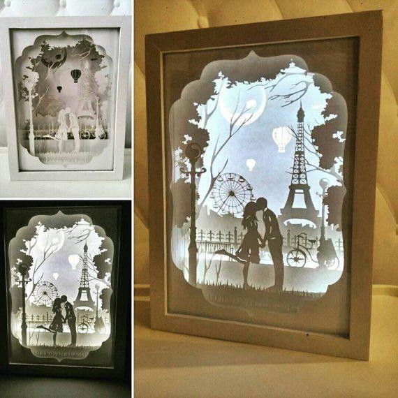 Paper Cut Light Box Silhouette Tutorial Papercut Shadow Rh Com New York Cameo Template