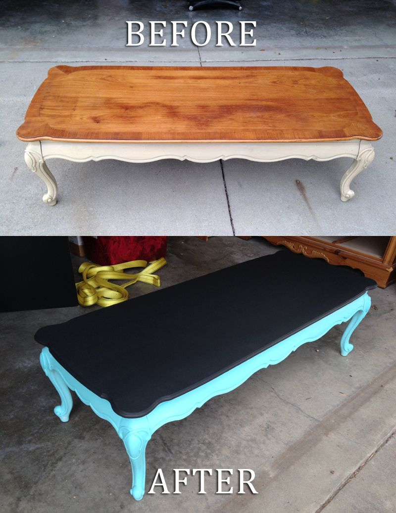 Chalkboard painted coffe table painted projects pinterest coffee table upcycled into kids chalkboard painted table diy home interior geotapseo Images