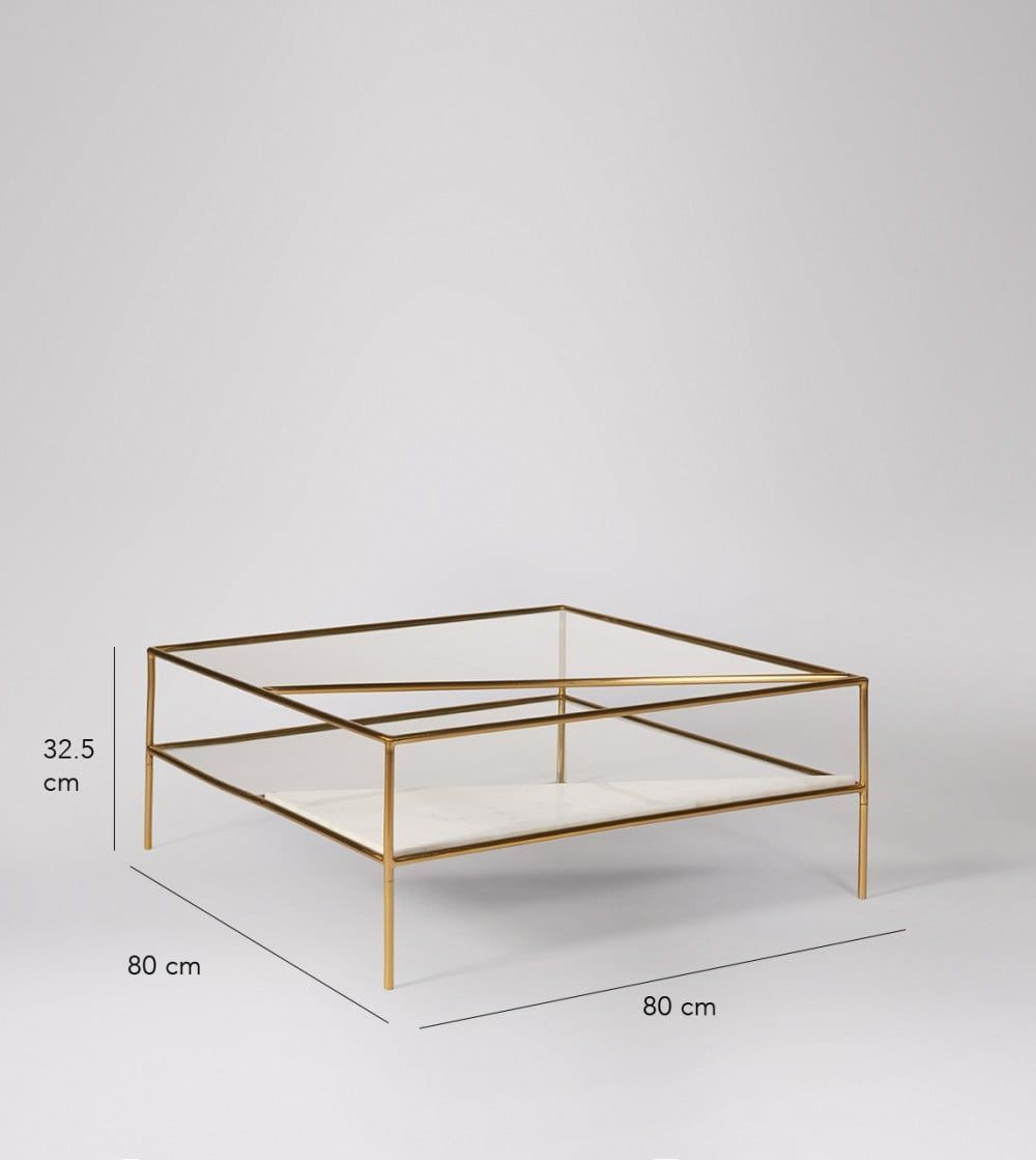 15 Brass Coffee Tables You Ll Love Cool Things To Buy 247 Coffee Table Brass Coffee Table Coffee Table Rectangle [ 1119 x 1000 Pixel ]