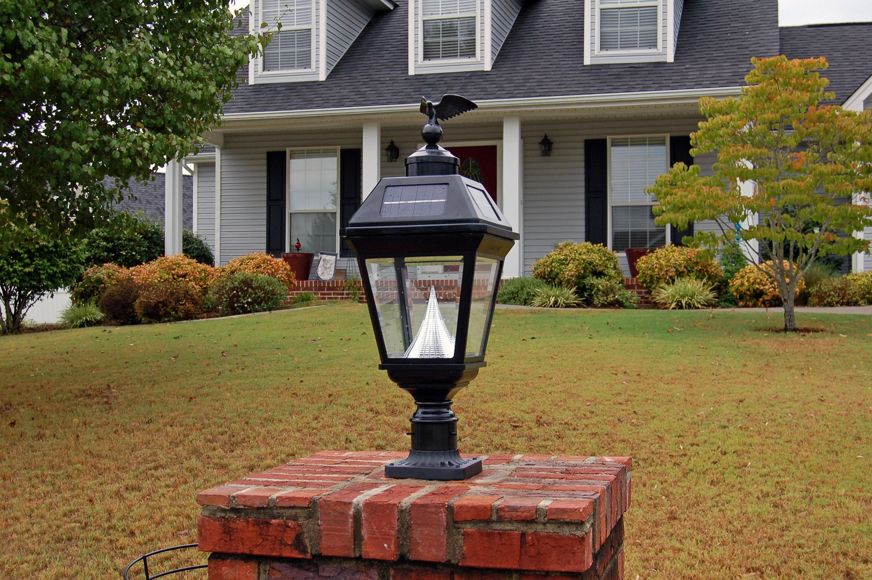 Outdoor solar lights for pillars httpafshowcaseprop large outdoor solar post lights outdoor lighting is a very attractive way to add security to company a home rental house or community areas for exampl aloadofball Images