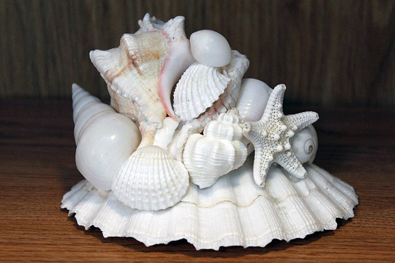 Photo of Beach Wedding Centerpiece, Table Centerpiece, Nautical Decor Centerpiece, Beach Decor Centerpiece, Shell Centerpiece