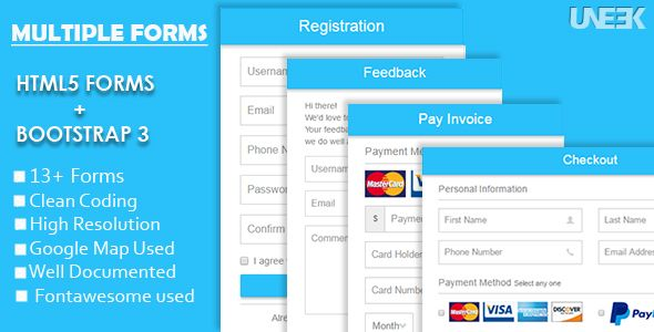 Responsive Html5 Forms With Bootstrap 3 Web Template Design Css Templates Form