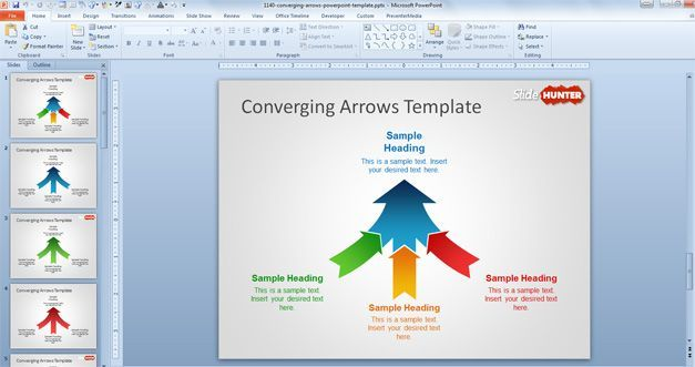 Free Converging Arrows Powerpoint Template Free Powerpoint Templates Slidehunte Business Powerpoint Templates Powerpoint Template Free Powerpoint Templates