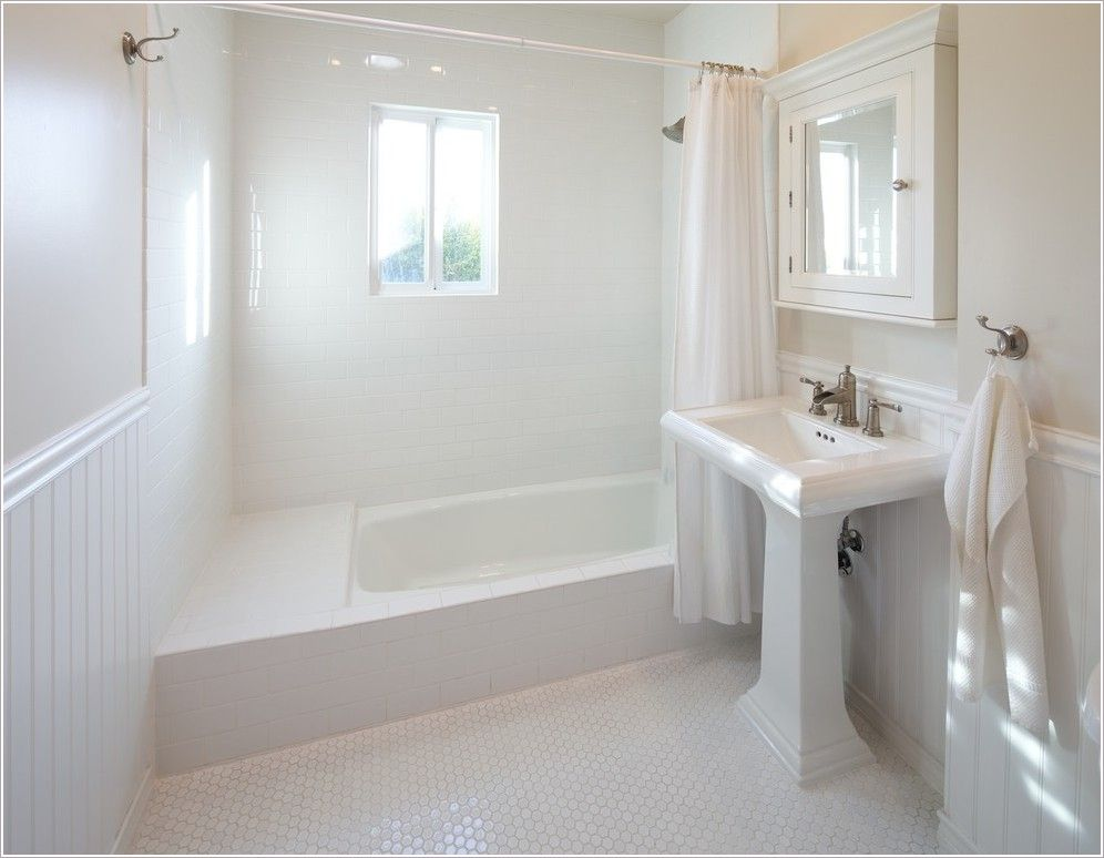 Bathroom Design Ideas With Beadboard bathroom-contemporary-los-angeles-beadboard-hexagon-tiles-medicine