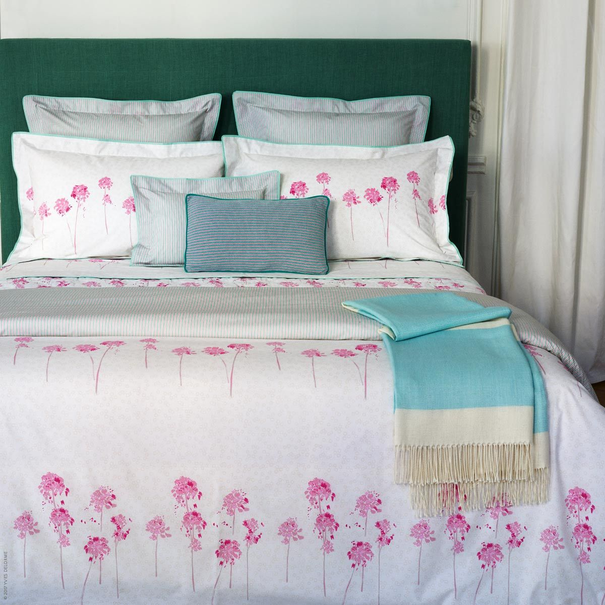 Rivages Bed Linens Includes Printed Floral Top Of The Bed And Bed Sheets Yves Delorme Egyptian Cotton France Bed Linens Luxury Bed Bed Linen Online