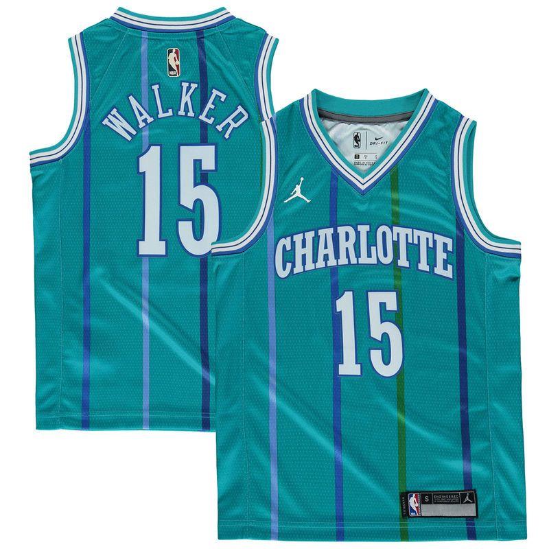 Kemba Walker Charlotte Hornets Jordan Brand Youth Hardwood Classics Swingman  Jersey – Teal 432e35071