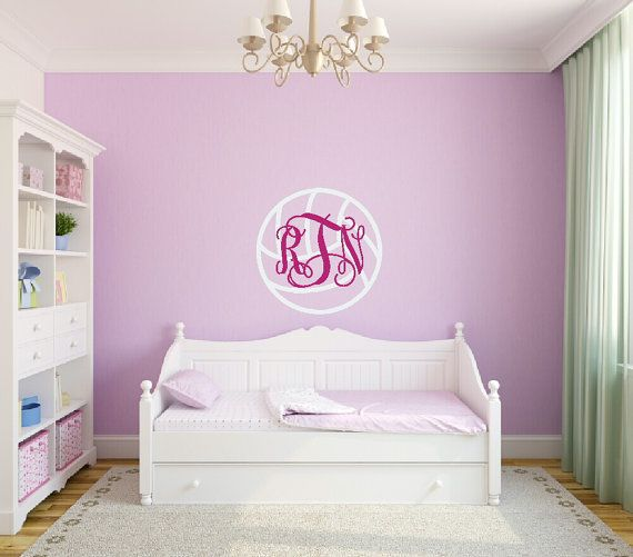 Perfect Volleyball Decal Volleyball Wall Decal Volleyball Monogram Decal Teen Girl  Bedroom Girl Sports Decal