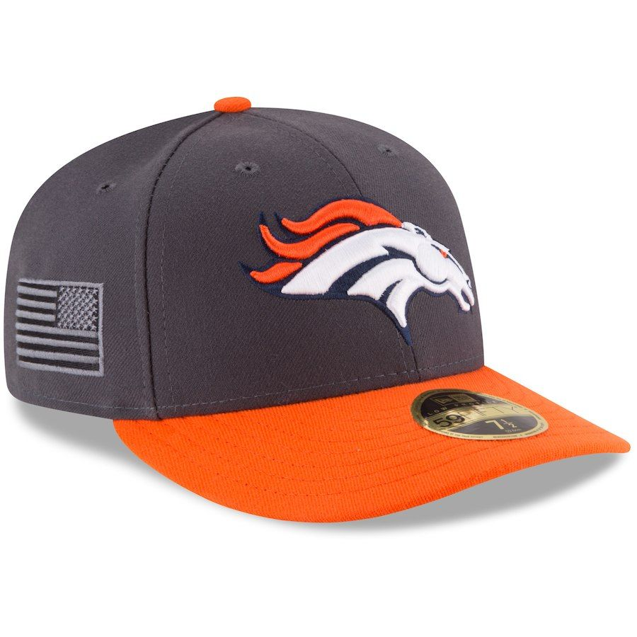 29f1632b3 Men s Denver Broncos New Era Graphite Crafted In America Low Profile  59FIFTY Fitted Hat
