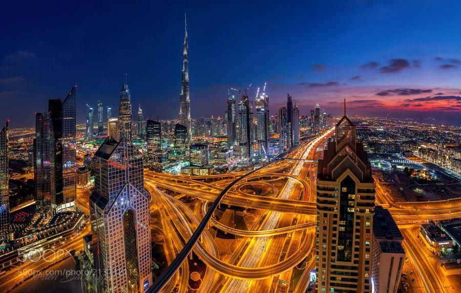 Telegraph Road Dubai At Sunset Hotelslondon London Tourist Guide Hotels