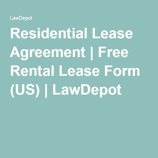 Residential Lease Agreement Free Rental Lease Form (US - rental lease